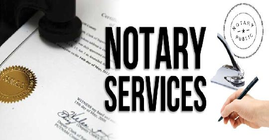 Notary page header